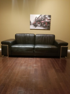 Genuine leather couch / sofa - Moving sale