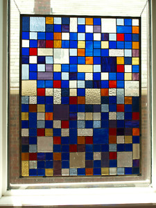STAINED GLASS PANEL -over 200 pieces