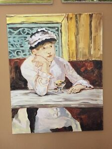 """Oil on canvas """"Manet"""" copy"""