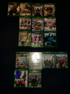 Jeux Xbox one à vendre/ Xbox one games for sale