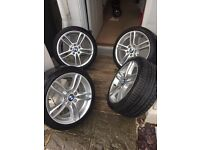 "GENUINE 18"" BMW 1 series m sport 261m wheels and tyres"