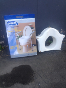 Invacare toilet safety frame and seat