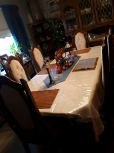 6 chair table set