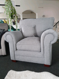 NEW Grey Fabric Harley Armchair DELIVERY AVAILABLE