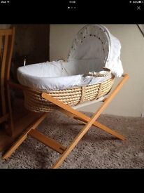 JOHN LEWIS MOSES BASKET AND STAND