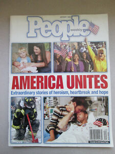People Weekly Magazine October 1 2001 America West Island Greater Montréal image 1