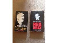 2 x Reg kray paperback books