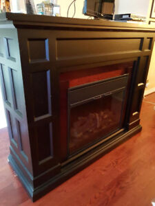 Fireplace mantle.