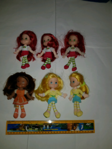Strawberry shortcake mini rag dolls