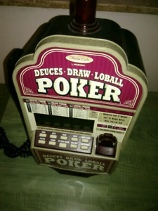 Radica Poker Quality Gaming Machine with attached phone