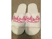 Bride To Be Wedding Slippers size L (7-8)