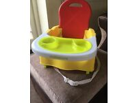Mothercare portable highchair booster seat