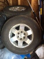 Tires including rims