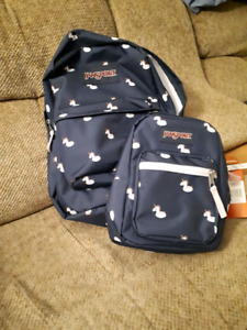BNWT Jansport unicorn backpack and lunch kit
