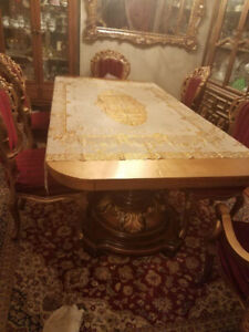BIG GOLDEN DINING TABLE FOR SALE