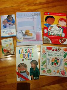 Lot de livres de recettes pour bébé