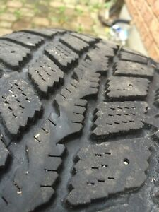 225/60/r16 winter tires (set of 4) for sale used for 1 winter  London Ontario image 1