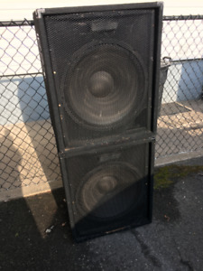 "Peavy Passive {non powered} Subs 18"" 400 watt. $300 bo."