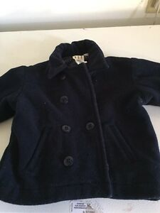 Boys Gap Navy coat -18-24 mths