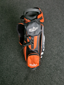 Mkids junior golf bag and clubs. Right hand.