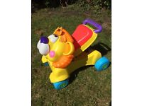 Fisher price ride on lion walker