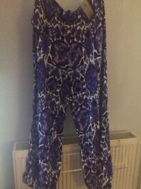 Size 16 TU patterned trousers NEW