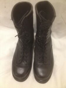 Almost New Boulet Blk Leather All Purpose Military Boots 9.5/10