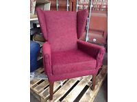 Red fireside arm chair, Kelso