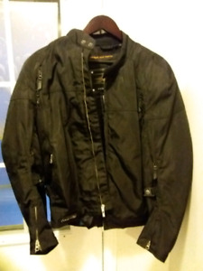 Men's Power Trip textile motorcycle jacket with full armor. Sz L