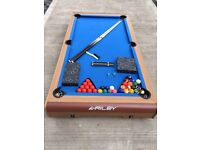 Riley pool and snooker table.
