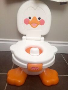 Adorable singing duck potty