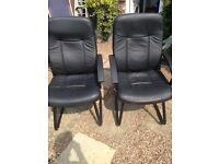 2 Leatherette office chairs