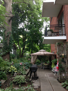 Ground Level 2 bdrm Apt in Mature Bldg with Elevator/Underground