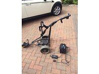 Electric power caddy golf trolley