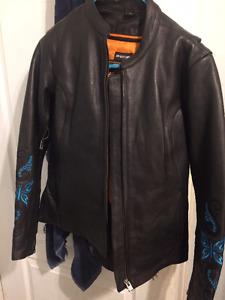 SM. Leather Riding Jacket w/ Inner Liner $100.00