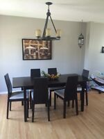 Solid wood 7pc dining table set $500 obo