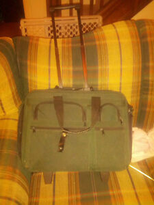 Green laptop bag with wheels