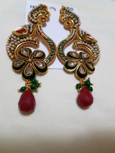 Indian Authentic long earrings
