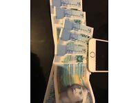 Rare £5 notes