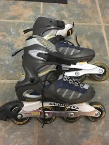 REDUCED TO SELL! Solomon Roller Blades-Women's Size 8 Cornwall Ontario image 1