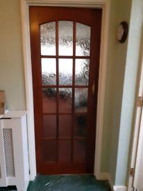 Doors solid oak/mahogany good condition