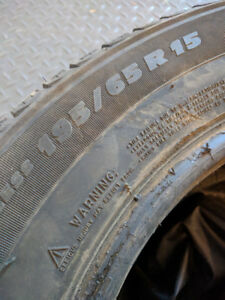 4 used Michelin X-Ice Xi3 Winter Tires -195 65 R15
