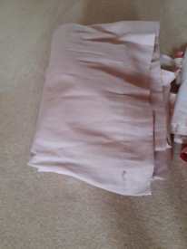 Pink curtains with tie back