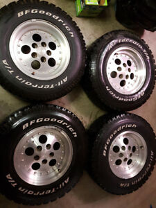 4 wheels & tires from 1999 Jeep TJ
