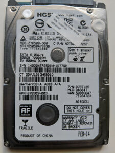 HGST Laptop harddrive 500GB 7200RPM
