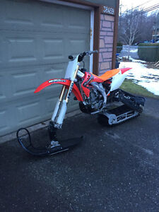 2004 Honda Crf450 SNOW BIKE four stroke