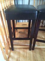 Bar stools-Leather