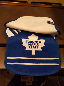 Maple Leafs Baby Bibs (Home & Away) - Brand New