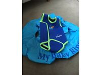 Baby swimming wetsuit and inflatable ring