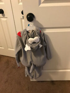 Halloween costume kids dog